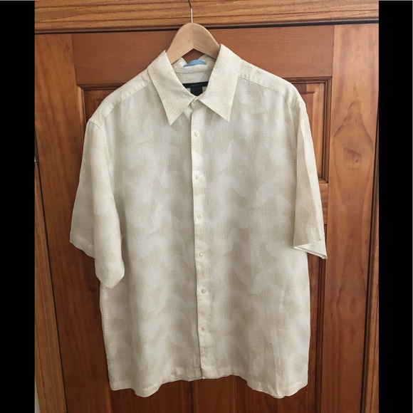 Claiborne Other - Claiborne Men's Short Sleeve Linen Shirt XL